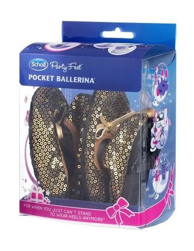 POCKET BALLERINA PAILLETTES TEXTILE...